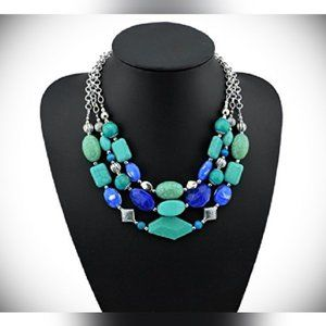 Jewelry - Turquoise Chunky Beaded Statement Necklace
